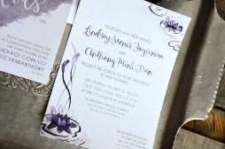 Sam Allen Creates Watercolor Weddng Invitation