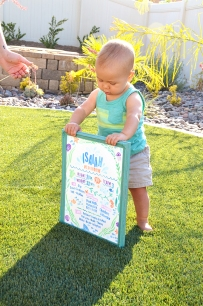 Sam Allen Creates - Isaiah's First Birthday - Under the Sea Birthday One Year Poster 2
