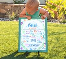 Sam Allen Creates - Isaiah's First Birthday - Under the Sea Birthday One Year Poster 5