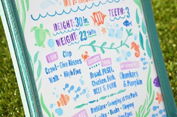 Sam Allen Creates - Isaiah's First Birthday - Under the Sea Birthday One Year Poster 8