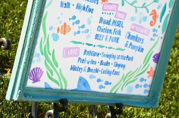 Sam Allen Creates - Isaiah's First Birthday - Under the Sea Birthday One Year Poster 9