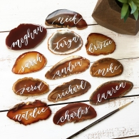 Sam Allen Creates Agate Placecards Wedding 2