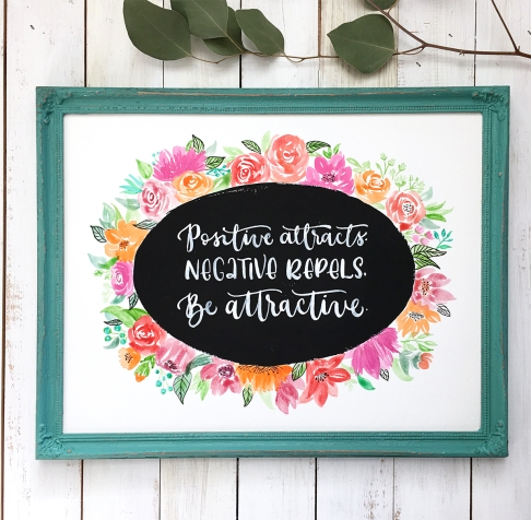 Sam Allen Creates Custom Watercolor Painting Quote
