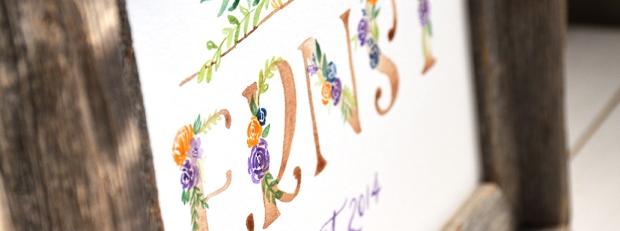 Sam Allen Creates Floral Last Name Painting feature