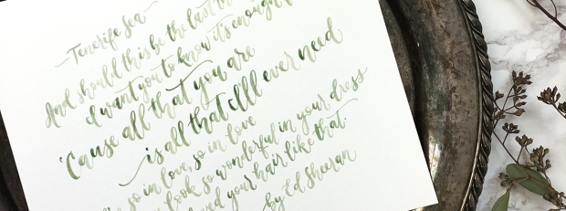 Sam Allen Creates Handpainted Watercolor Love Letters feature