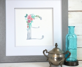 Sam Allen Creates Watercolor Letter Monogram E