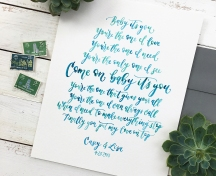 Sam Allen Creates Handwritten Watercolor Wedding Vows Love Letter Beyonce lyrics
