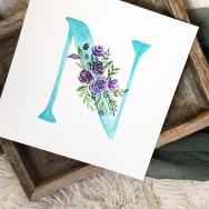 Sam Allen Creates Watercolor Floral Letter