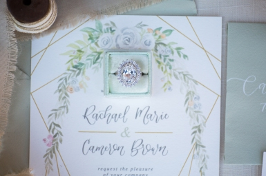 Sam Allen Creates - Watercolor Floral Wedding Invitation Detail - photo by CarstenTicePhotography