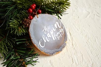 Sam Allen Creates - Agate Slice Ornaments